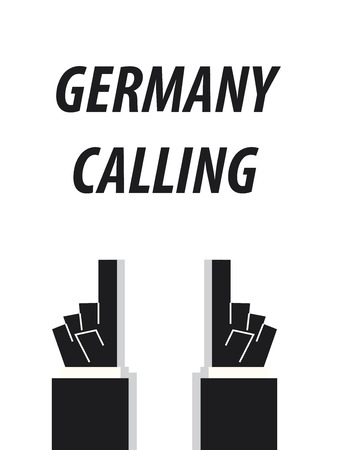 GERMANY CALLING typography vector illustration
