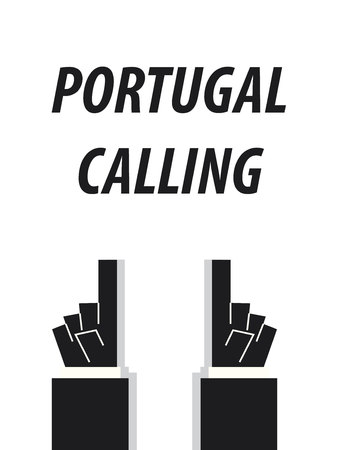 PORTUGAL CALLING typography vector illustration