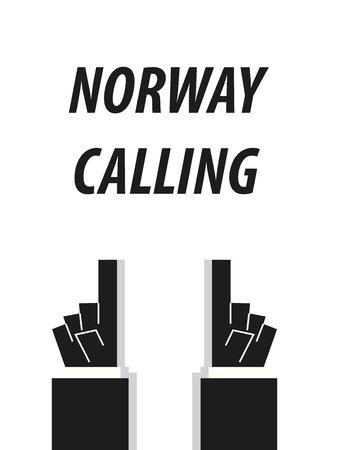 NORWAY CALLING typography vector illustration