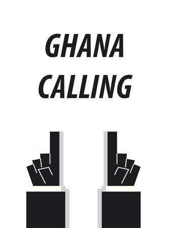 minister: GHANA CALLING typography vector illustration Illustration