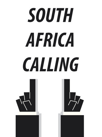SOUTH AFRICA CALLING typography vector illustration