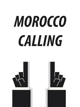 MOROCCO CALLING typography vector illustration