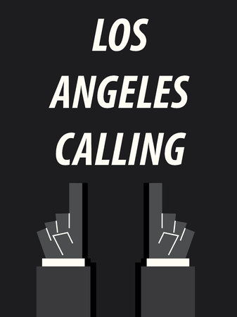 LOS ANGELES CALLING typography vector illustration