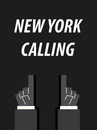 NEW YORK CALLING typography vector illustration