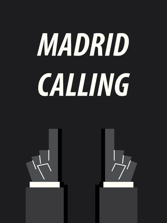 madrid: MADRID CALLING typography vector illustration Illustration