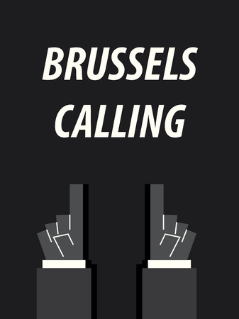 BRUSSELS CALLING typography vector illustration