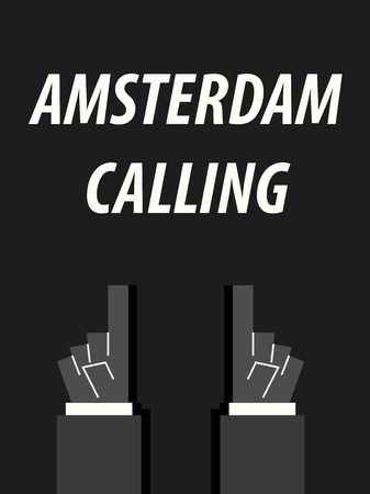 AMSTERDAM CALLING typography vector illustration