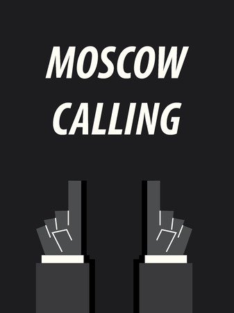 MOSCOW CALLING typography vector illustration