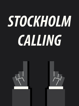 STOCKHOLM CALLING typography vector illustration