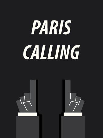PARIS CALLING typography vector illustration