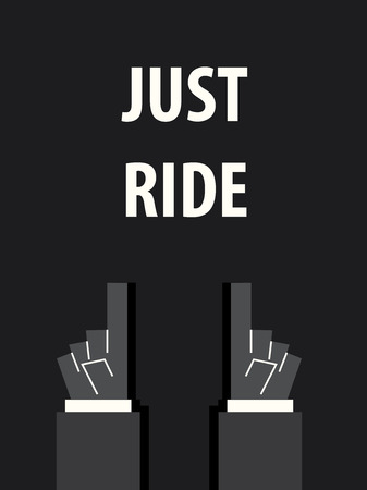 motocycle: JUST RIDE typography vector illustration