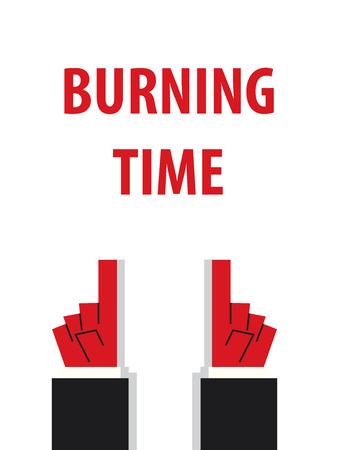 burning time: BURNING TIME typography illustration