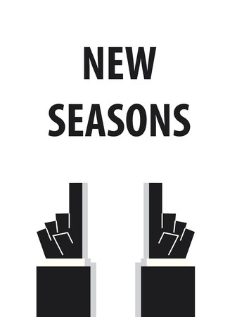 weather terms: NEW SEASONS typography vector illustration