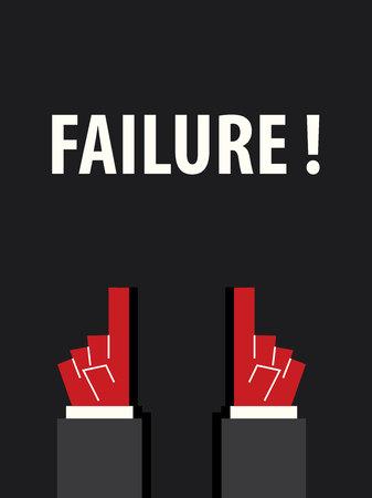 failure: FAILURE typography vector illustration