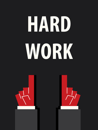 hard: HARD WORK typography vector illustration Illustration