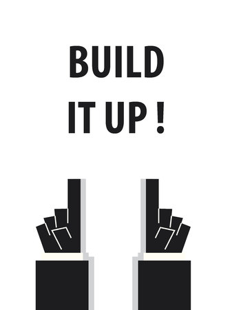 erector: BUILD IT UP typography vector illustration