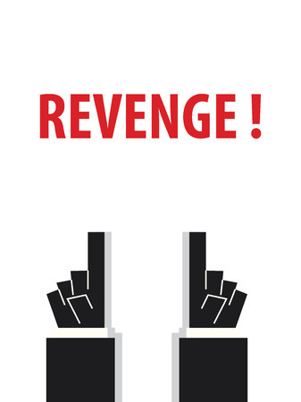 REVENGE typografie vector illustratie Stock Illustratie