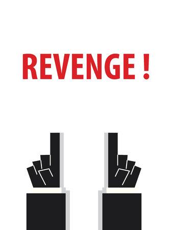 revenge: VENGANZA ilustraci�n tipograf�a vector