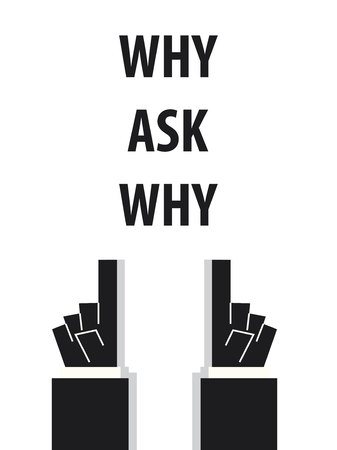 acknowledge: WHY ASK WHY typography vector illustration