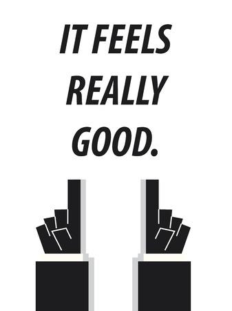 IT ist ein gutes Gefühl Typografie Vektor-Illustration Standard-Bild - 57981945