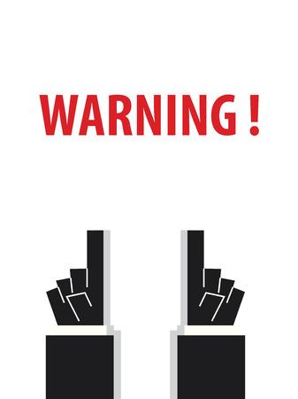 WARNING typography vector illustration