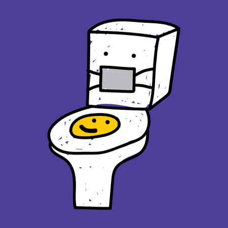 flush toilet: Flush Toilet illustration