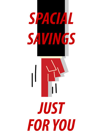 spacial: SPACIAL SAVINGS JUST FOR YOU typography illustration