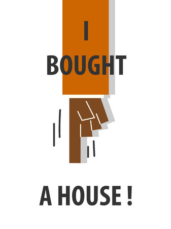 Eu comprei uma casa tipografia ilustração vetorial