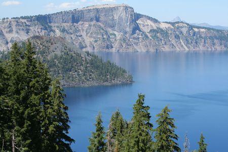 crater lake: Island in Crater Lake
