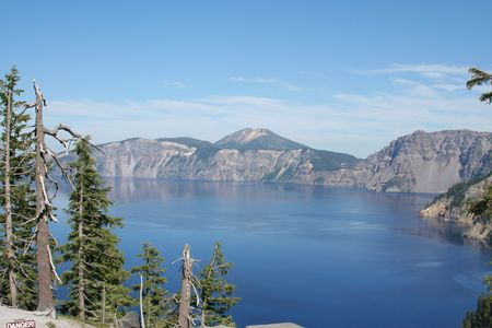 crater lake: View of Crater Lake Stock Photo