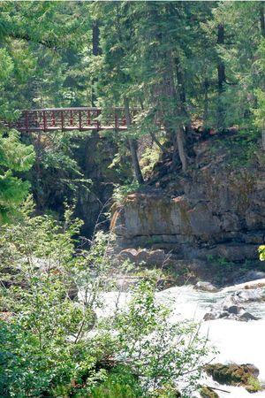 rogue: Bridge across the Rogue River Stock Photo