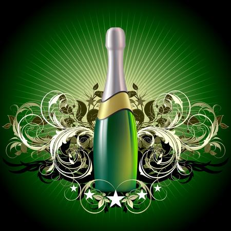 Champagner feiern Illustration