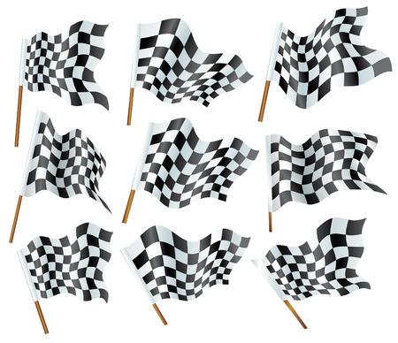 d�part course: drapeaux formule Illustration