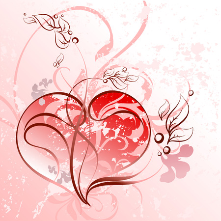 heart floral Vector