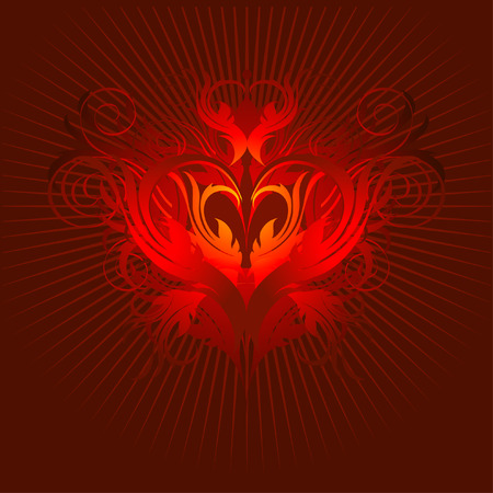 heart red black Vector