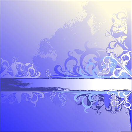 ornamental blue Vector