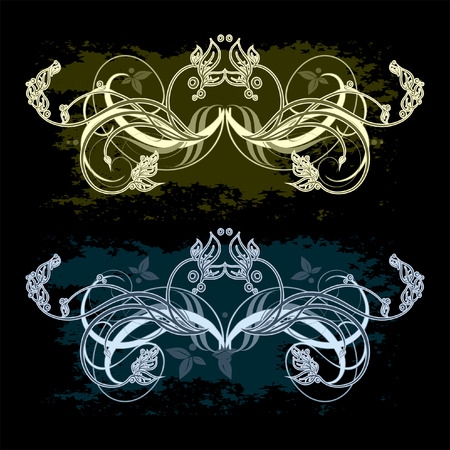 ornamental set Vector