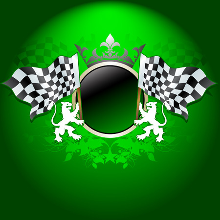 formula one racing: ornate flag