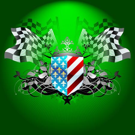 rallying: ornate flag