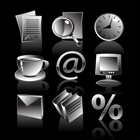 business iconset  Stock Vector - 4531918