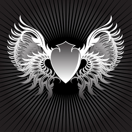 shield wings Vector