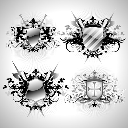 ornamental shields Stock Vector - 4531979