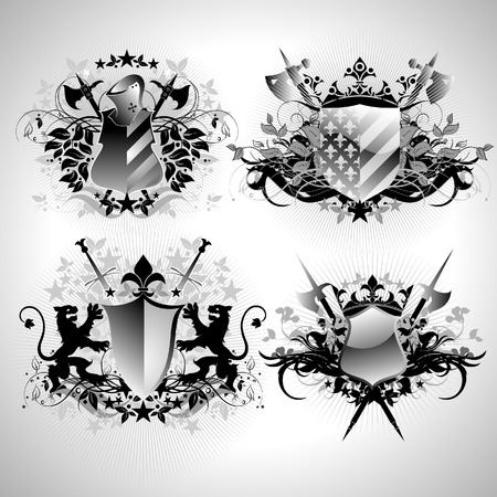 ornamental shields Stock Vector - 4531970