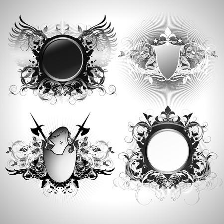 ornamental shields Stock Vector - 4532019