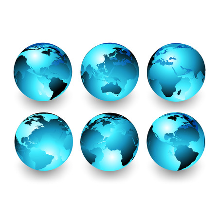 vector maps: world globes