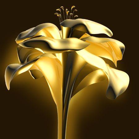 artsy: 3d flower Stock Photo