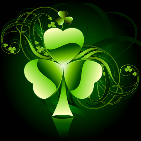 clover leaf shape: St.Patricks day Illustration
