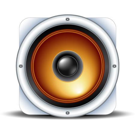 Lautsprecher-Symbol detaillierte Vektorgrafik