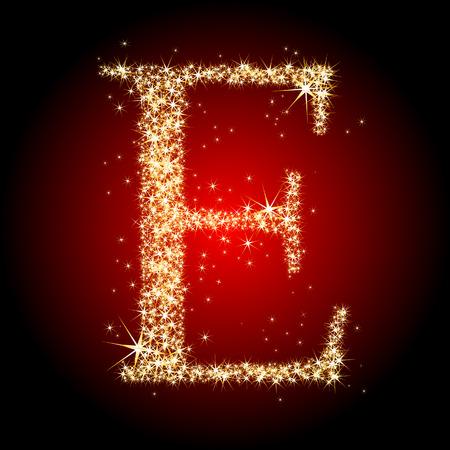 letter star E Stock Vector - 5712494