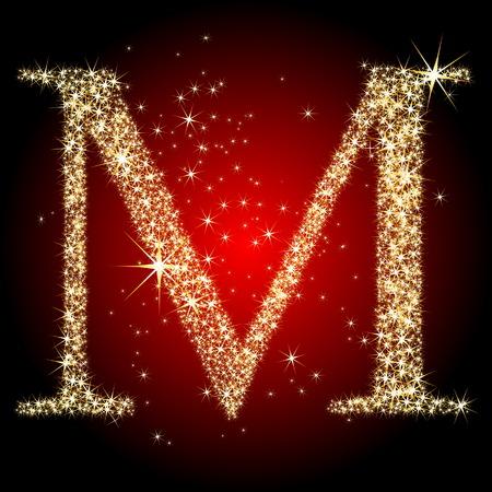 m: letter star M